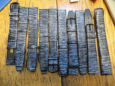 Lot of 5 Vintage New Old Stock LeJour Leather Black & White Watch Bands 16 MM