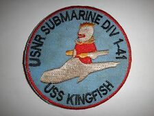 US Navy Reserve USNR Submarine Division 1-41 USS KINGFISH Patch