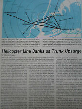 9/1975 ARTICLE 3 PAGES NEW YORK AIRWAYS SIKORSKY S-61L HELICOPTER + PRATT AD