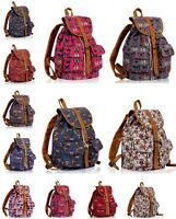 LARGE CANVAS BACKPACK A4 LEVER ARCH QUALITY SCHOOL BAG GYM SPORT TRAVEL RUCKSACK