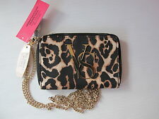 VICTORIA'S SECRET LEOPARD IPHONE 5 5S 5C WALLET CLUTCH CROSSBODY SHOULDER BAG