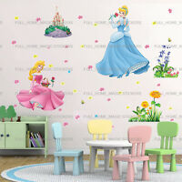Extra Large Princess Cinderella & Castle Girls Room Wall Sticker Art Decal Decor