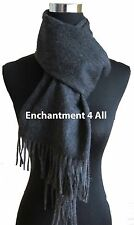 "New Classic 70""X11"" 100% 2-Ply Pure Cashmere Scarf Women Neck Muffler, Dark Gray"