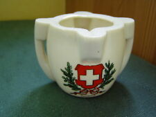 SWITZERLAND SCHWEIZ CREST - DOVER CASTLE STONE VESSEL - GOSS CRESTED CHINA