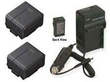 TWO 2 Batteries + Charger for Panasonic AG-HMC41EU AG-HMC42 AG-HMC42E AG-HMC70