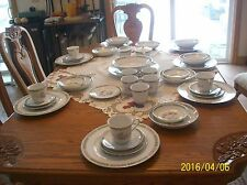 Woodsong Fine China Vintage Bird & Floral Pattern Made In Japan 48 Pieces 5109