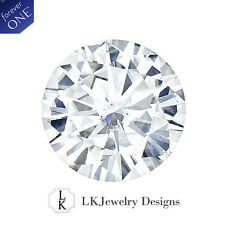 1.00 CT MOISSANITE FOREVER ONE ROUND LOOSE STONE - 6.5 mm