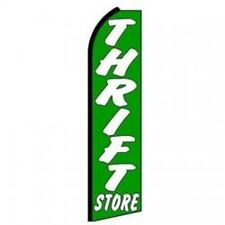 Thrift Store King  Size  Polyester Swooper Flag Banner sign