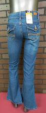 Girls 14 Jordache Flare Stretch Medium Wash Jeans NWT Size 14 inseam-29 School