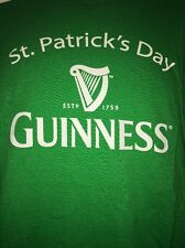 St. Patrick's Day Guinness Adult Men's Large T-Shirt Green