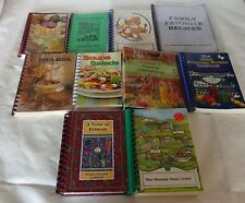 COOKBOOKS Lot 10 Spiral Bound Community Church Charity Wards Vintage