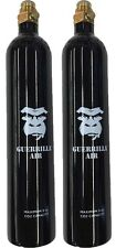 Lot of 2 - Guerrilla Air CO2 Aluminum Black Paintball Tank with Pin Valve 9oz
