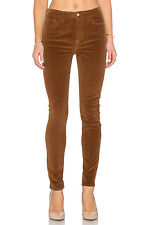 NWT 7 FOR ALL MANKIND Sz26 HIGH WAIST ANKLE SKINNY JEANS CORDUROY COGNAC