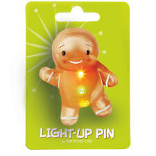 Wonderlights Light-Up Acrylic Gingerbread Christmas Pin
