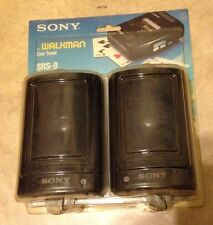 Vintage Sony SRS-9 Walkman Speaker System Pair NEW factory sealed