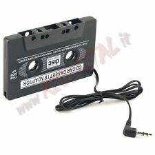 ADATTATORE AUTO PER CASSETTE AUDIO JACK CUFFIE 3.5mm MP3 CD DVD MP4 IPOD USB