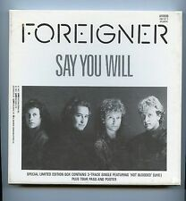 "Foreigner/Say You Will + 2 (7"" VINYL 45rpm/Ltd. Ed. Box Set/Poster/Tour Pass)"