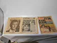 3A3 STAR MAGAZINE DEC 1980 JOHN LENNON, 2 OTHER NEWSPAPERS CHECK IT OUT!!!!!!!