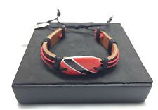 TRINIDAD FLAG BRACELET  Trinidad and Tobago Soca Calypso Port of Spain Machel
