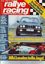 rallye racing 5/85 MK BMW 323i 2,7/Gubin BMW 320i GS1/VGS Mercedes 190/1985