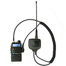 Portable UHF VHF Antenna Speaker Mic for Wouxun KG-UVD1P Bafeong UV5RE Plus UVB5