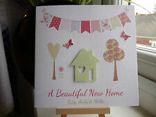 Beautiful Handmade Personalised New Home Housewarming Moving House Card