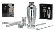 5 Piece Stainless Steel Manhattan Cocktail Shaker Set Cocktail Drinks Bar Set
