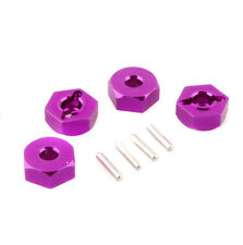 RC HSP 102042 Purple Aluminum Wheel Hex & Pins 4p 1/10th On-Road Car/Buggy/Truck