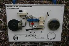 Hydraulische Zweikreisbremse mit Leckdemonstration Fahrschule Modell