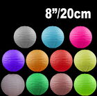 "BULK 12x 8""/20cm Paper Lanterns Colourful Wedding Party home Chinese Decoration"