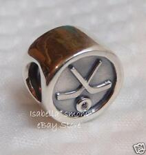 NEW 100% Authentic PANDORA Silver HOCKEY PUCK Sports Charm~Bead 791203CZ