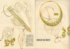 Publicité 1992  (double page)  BOUCHERON bijoux collection collier bague