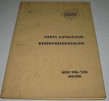 Parts Catalogue Volvo Penta Reservdelskatalog AQD 29A / 250 MD 29A Stand 1969!