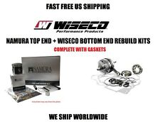 NAMURA TOP END PISTON KIT + WISECO CRANKSHAFT BOTTOM END REBUILD KIT 01-05 KX85