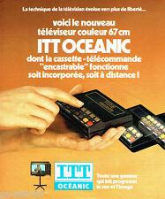 PUBLICITE ADVERTISING 066  1978  Itt Oceanic téléviseur cassette-télécommande