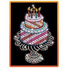 KSG Sequin Art Orange Birthday Cake 1506