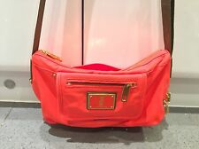 100% Authentic Juicy Couture Messenger Bag! Orange With Green Strap