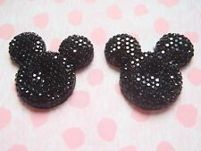 Black Sparkly Minnie / Mickey Mouse Silhouette Earrings, Free Wrapping, Disney