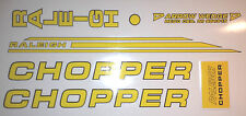 RALEIGH CHOPPER MK2 DECAL SET GLOSS YELLOW