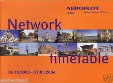 Airline Timetable - Aeroflot - 26/10/03 - Network style Edition