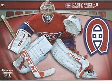 CAREY PRICE FATHEAD TRADEABLES MONTREAL CANADIENS LOGO REMOVABLE STICKER 2014 35