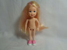 TY Inc 2009 Li'l Ones Doll Blonde Pink Streaks & Pink Tennis Shoes Nude