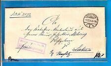 DR  / STETTIN 1m 1.8.94 Gitter-Stpl. + viol. Ra2 auf weitergel. Brief