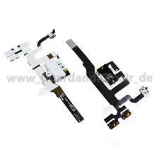 iPhone 4S Audio Jack Flex Kabel Kopfhörer Vibration Laut Leise weiß