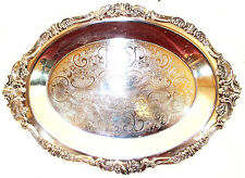 Wallace Baroque Silverplate Holloware #273 17 inch Meat Serving Platter Dish