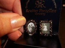 ANTIQUE PHOTOS IN FRAMES - REUTTER PORCELAIN   - DOLL HOUSE MINIATURE
