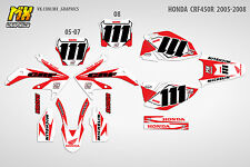 MX Graphics Stickers Kit Decals HONDA CRF450R 2005-2007 2008 CRF 450 CRF450 R