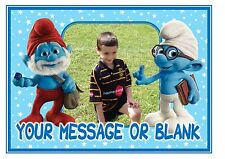 Own photo personalised ND1 Film The Smurfs A4 cake topper icing