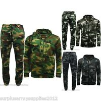 MENS CAMOUFLAGE JOGGER TRACKSUIT  S - 5XL GAME CAMO JOGGING BOTTOMS ZIP HOODIE