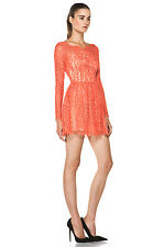 Lover the Label Millie Lace Flamingo Coral Dress Size 2 NWT Retail $750